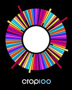 Crop100 logotype. Design av Joakim Nyström