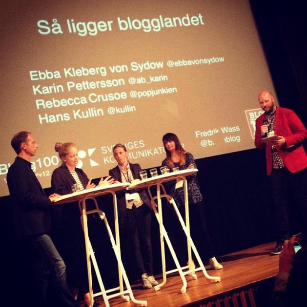 Blogg100-avslutningen 2013, med paneldebatt på Historiska museet. (Foto: Linda Hörnfeldt)