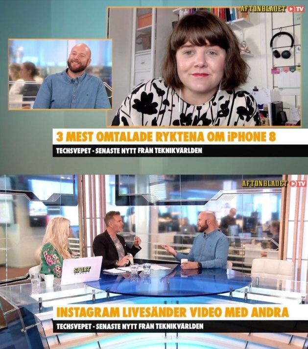Fredrik Wass och Elin Häggberg i Aftonbladet TV