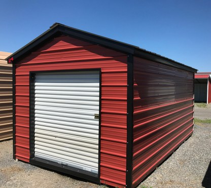 10x12 Boxed Eave Utility Shed with 6x6 Roll-up door.