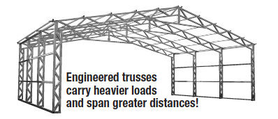 Commercial Style Truss Building Frame Sketch