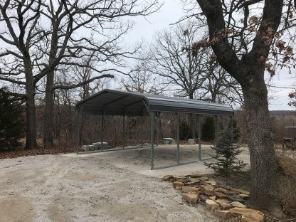 18x20 Standard Style Carport with 7' legs.