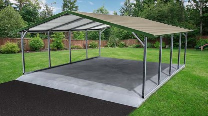 Boxed Eave Style Carport.
