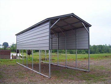 12x30x12 Vertical Roof RV Port with 2 extra side panels on each side