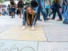 Thats how Marilyn Monroe did her hand prints!