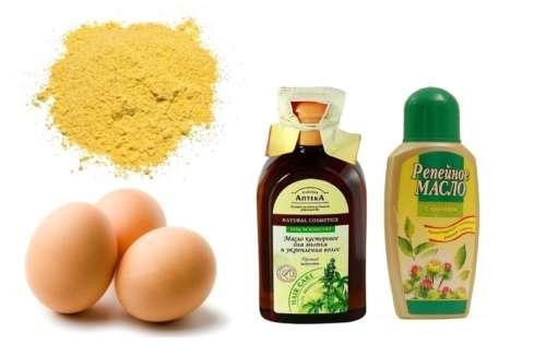 яйца масло горчица