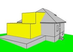 Prístavba k rodinnému domu, Ružomberok - schéma rozšírenia rešpektujúceho pôvodný dom / bistan.sk