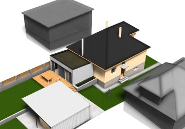 Prístavba k rodinnému domu, Ružomberok - vizualizácia 1. etapy rozšírenia / bistan.sk