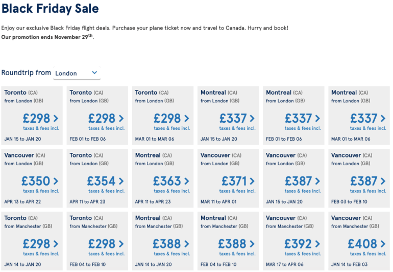 Black Friday Cyber Monday Flight Deals Bis To The World