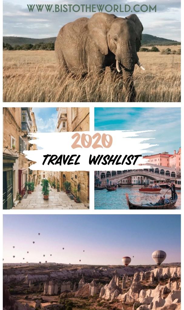 2020 travel wishlist