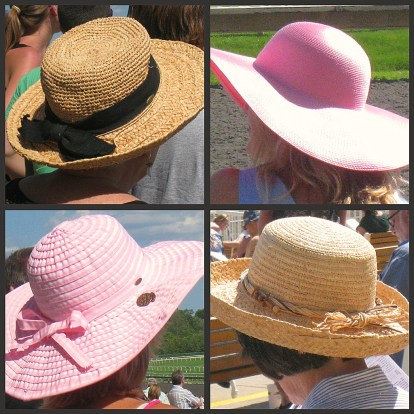 A sample of hats from a day at the races!
