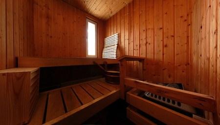 Inside Finnish sauna...