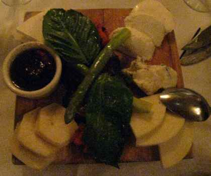 Harry Caray's Antipasto Cheese Salad: Much better than the picture alludes...