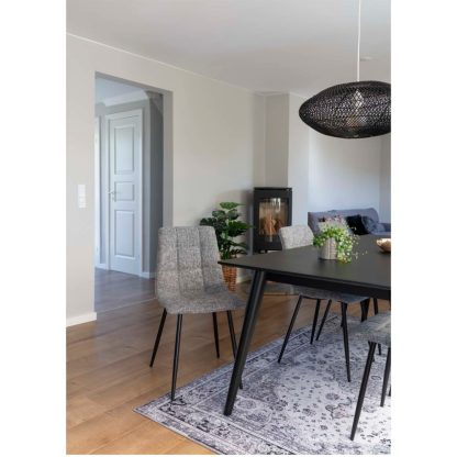 chaise diner middelfart tissu gris chiné house nordic