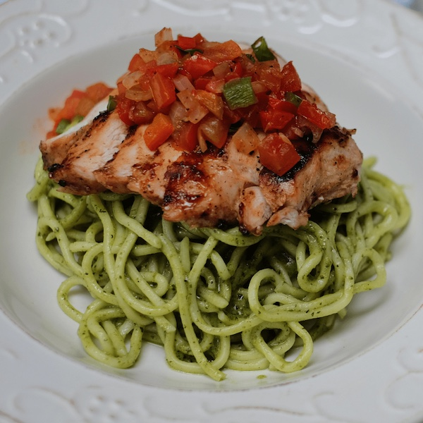 Chicken Pesto Spaghetti