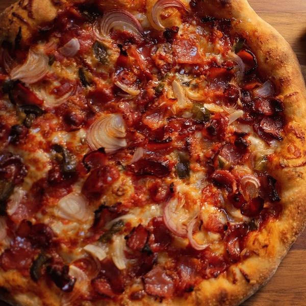 Honey Bacon and Jalapeno Pizza
