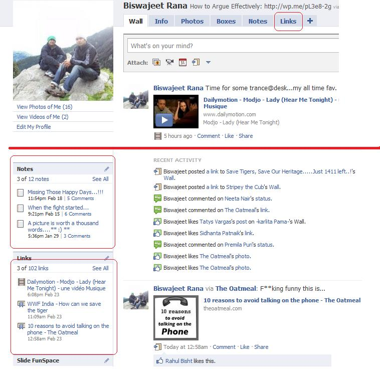 How to view the links and notes of people who are not on your Friend-list/Friends-of-Friends list on Facebook (1/3)