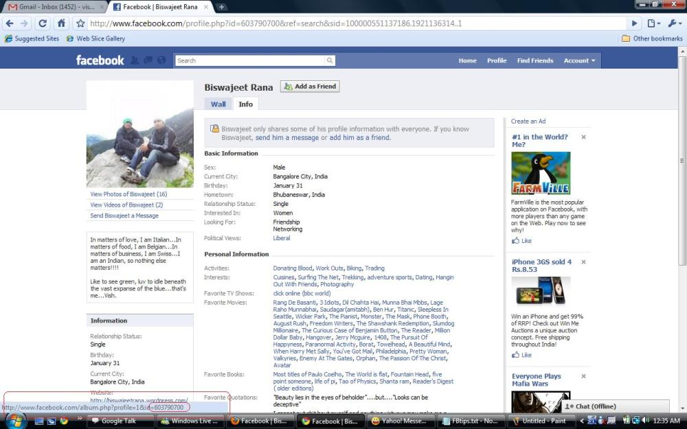 How to view the links and notes of people who are not on your Friend-list/Friends-of-Friends list on Facebook (3/3)