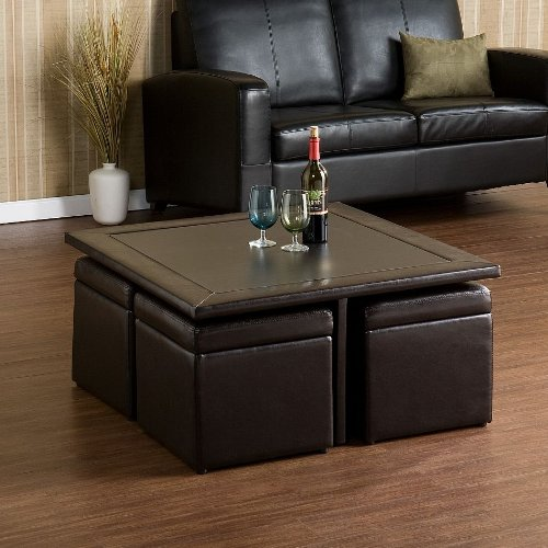square coffee table with pull out ottomans square coffee table with antique round end table