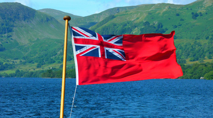 Red ensign, Ullswater, MY Raven, ferry to Howtown