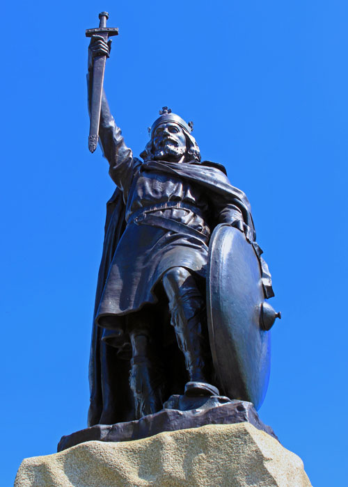Statue of Alfred the Great, Winchester, capital of Wessex
