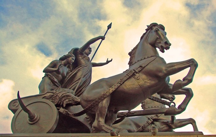 Boudicca, statue, London, Westminster, Romans