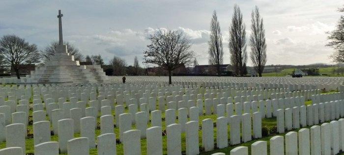 Tyne Cot, CWGC, Ypres, Belgium, Modern timeline