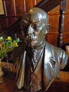 Rudyard Kipling, bust, Bateman's, Sussex