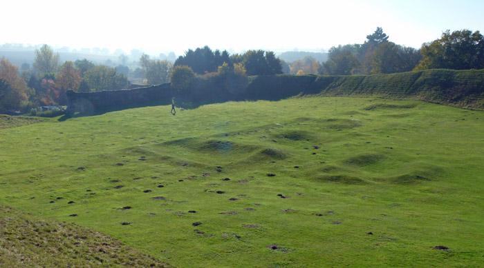 Castle Acre, remains, buildings