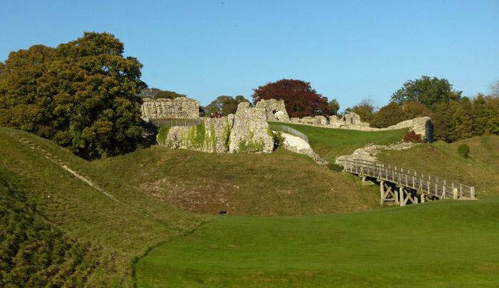 Inner bailey, keep, Castle Acre, Norfolk