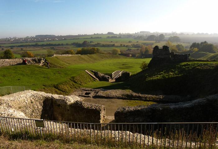 Castle Acre, bailey, River Nar, Norfolk