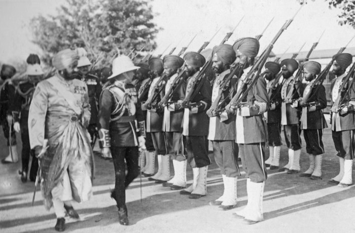 Indian troops, British Empire
