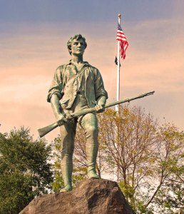 Lexington Minuteman, statue, American independence