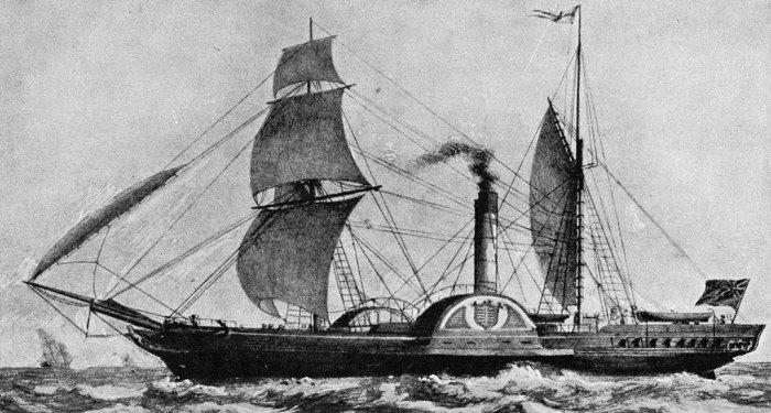 Paddlesteamer Sirius, Victorian Britain