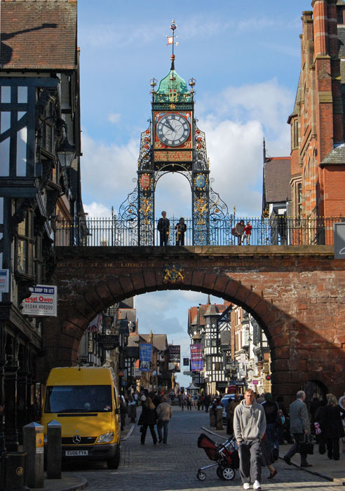 Chester's famous Eastgate Clock, North West England