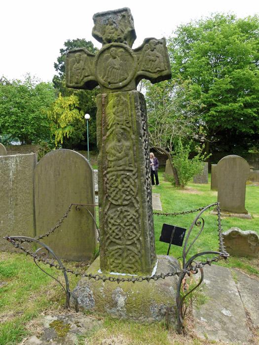 Eyam, Anglo-Saxon cross, churchyard
