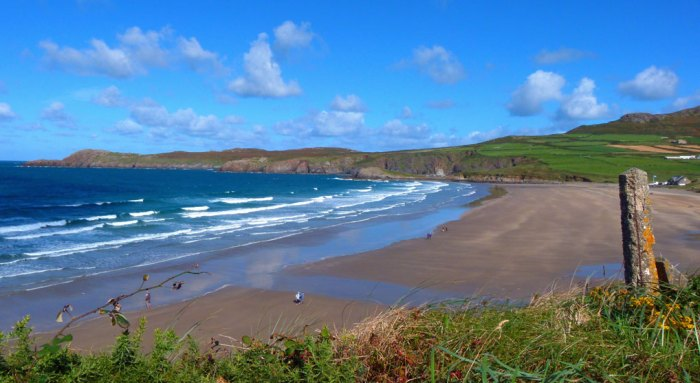 Whitesands Bay in Pembrokeshire.