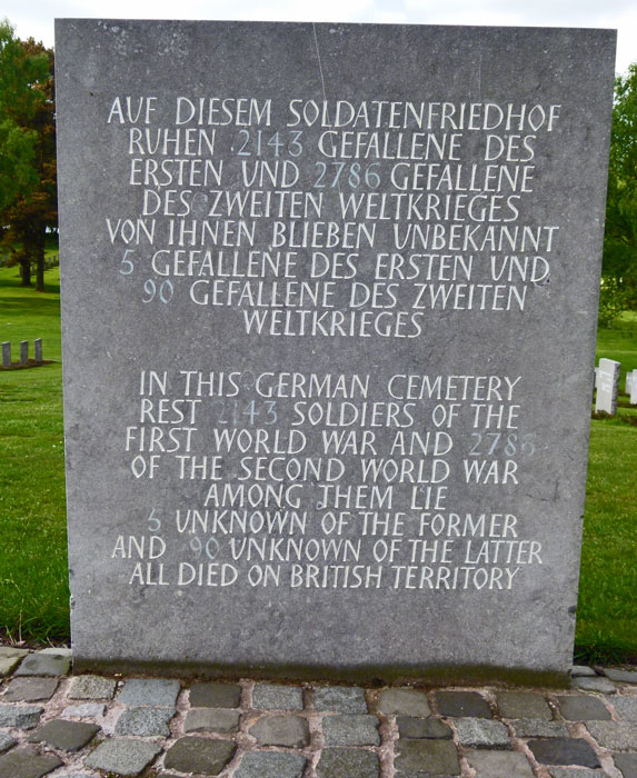 Britain's German Military Cemetery.