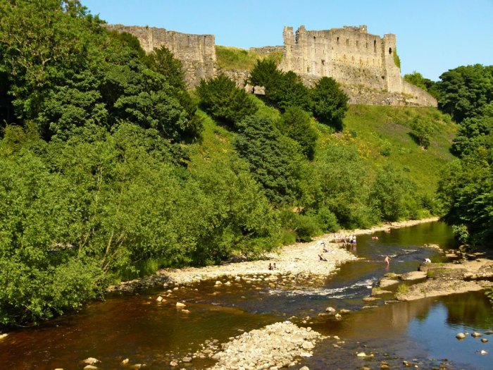 Richmond Castle high above the river Swale