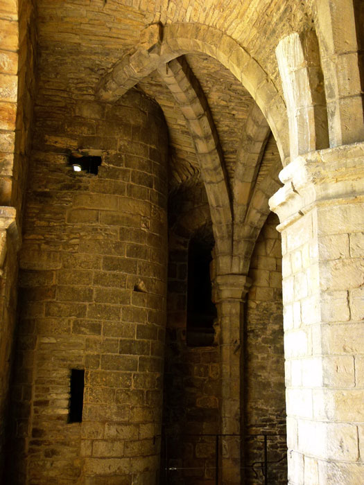 Richmond Castle - ground floor of the keep.