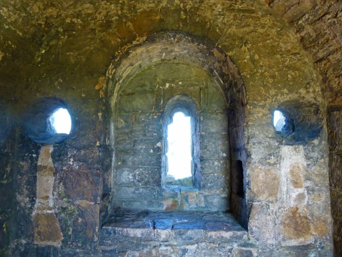 Richmond Castle, windows in St Nicholas' Chapel