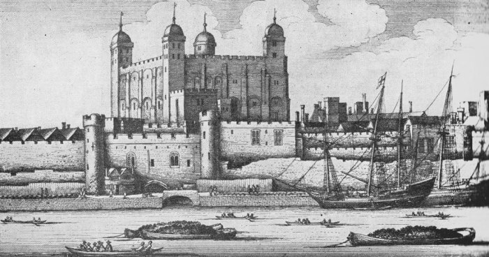 The Tower of London in 1647.