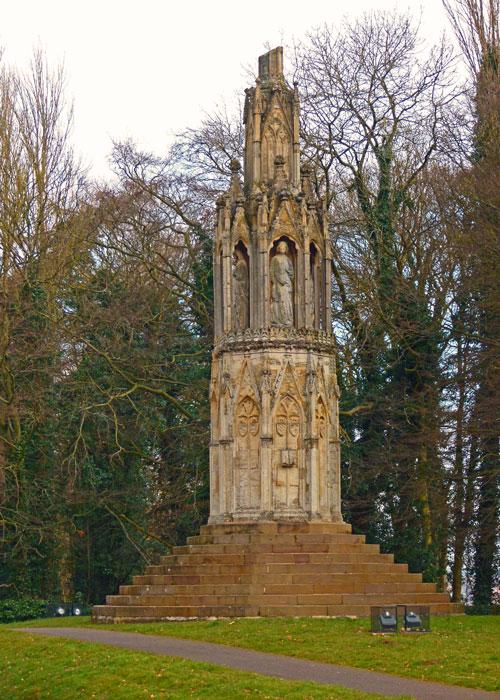 Eleanor's Cross at Hardingstone, Northampton