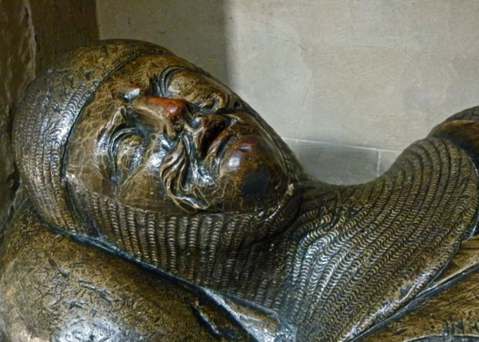 Wooden effigy of a knight, Southwark Cathedral