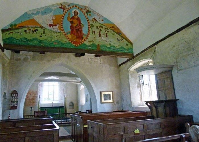 St Hubert's, millennium painting, nave