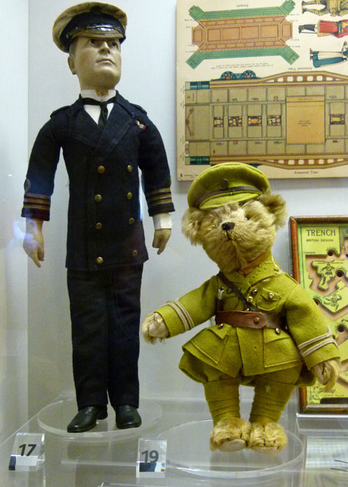 Sudbury Museum of Childhood, Admiral Beatty doll, Tommy teddy bear