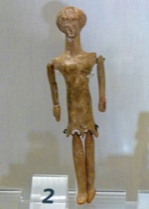 Terracotta doll from 400BC, Sudbury Museum of Childhood