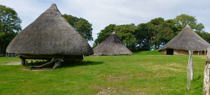 Castell Henllys, 'Castle of the old court', recreated Iron Age village