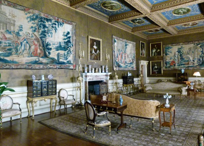 18th century state apartments at Chirk