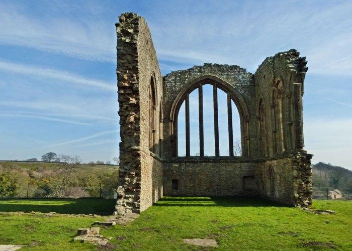 Egglestone, Abbey, Durham, east window
